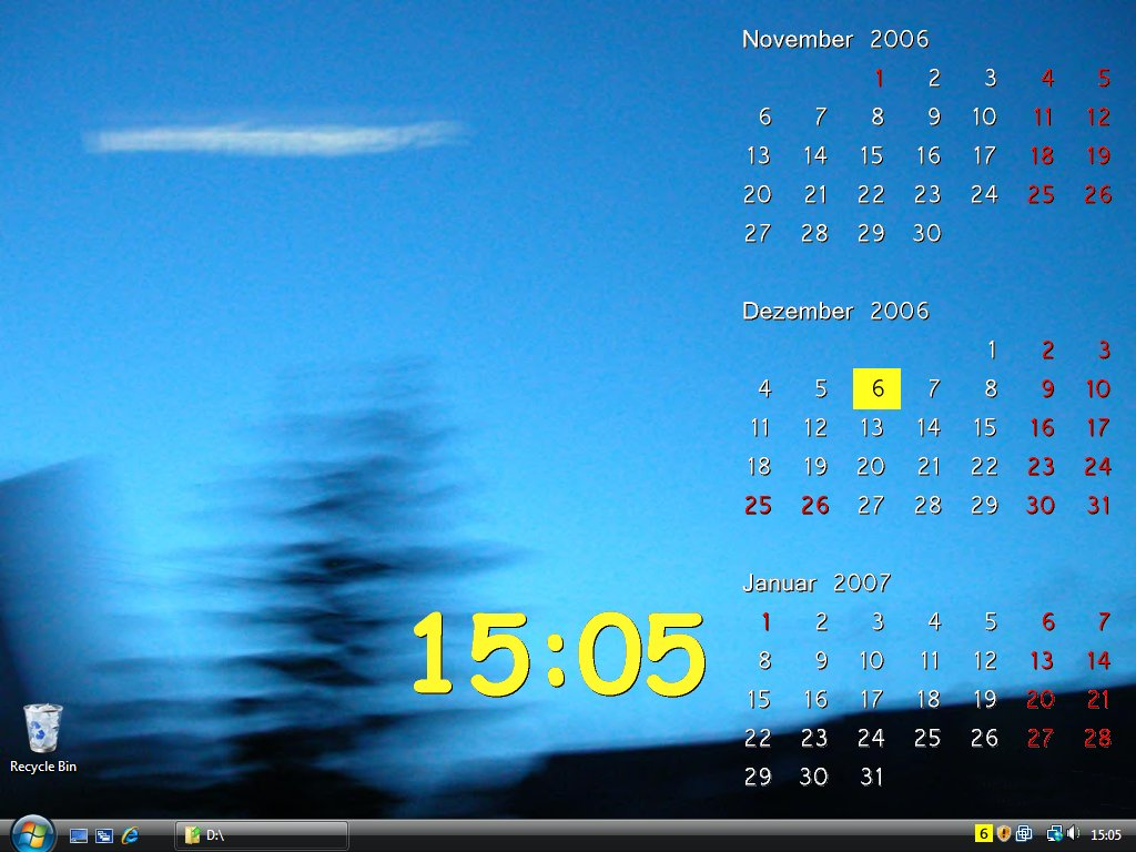 Screenshot vom Programm: 365 by DTgrafic